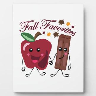 Fall Favorites Plaque