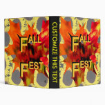 Fall Fest Leaf and sunflower graphic Binder