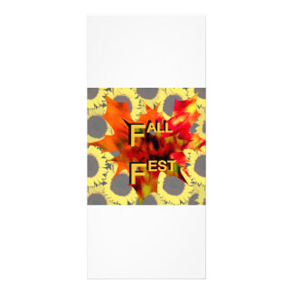 Fall Fest Leaf and sunflower graphic Rack Card Template