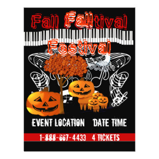 Fall Festival Halloween Event or Fall Event Flyer