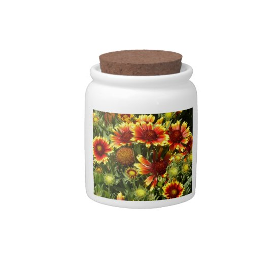 Fall festival of wildflowers candy jars