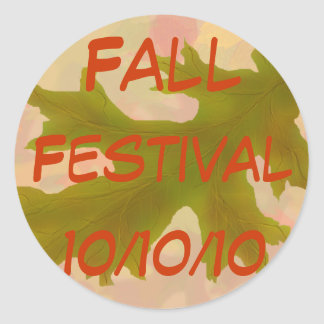 Fall Festival! Round Stickers