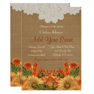Fall Festive Party Invitation Template