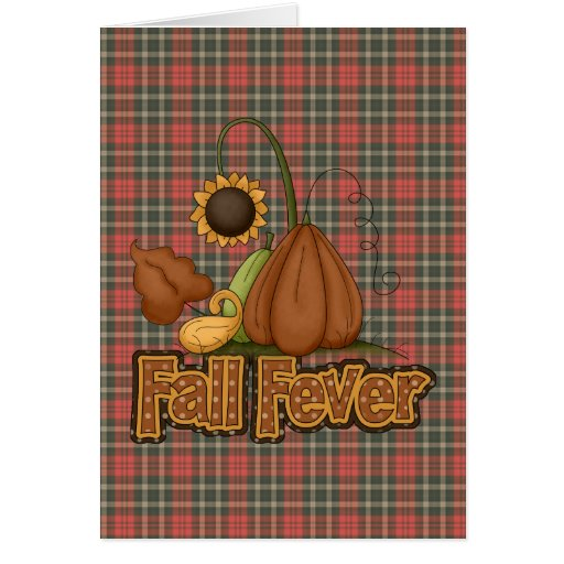 fall fever greeting card