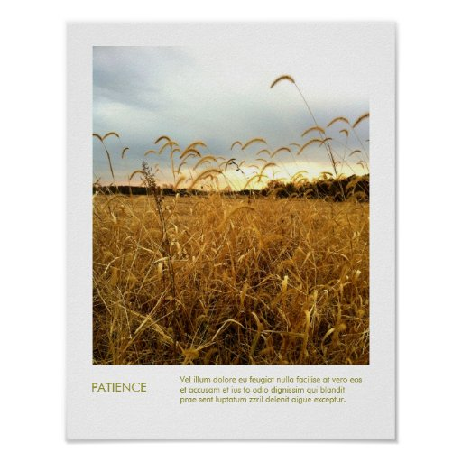 Fall Fields Nature Photography Inspirational Quote Poster