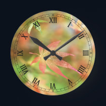 Fall Filigree Clock