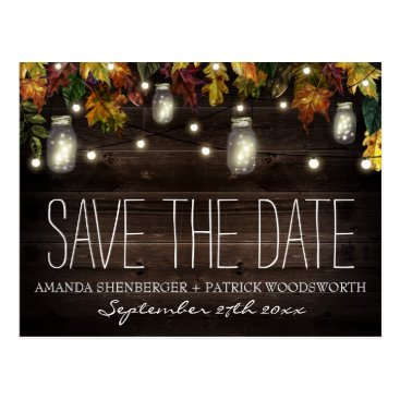rusticweddings Fall Firefly Mason Jar Wedding Save the Date Cards