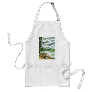 Fall Fishing - watercolor Adult Apron