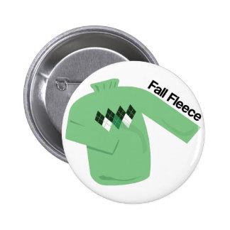 Fall Fleece Pinback Buttons