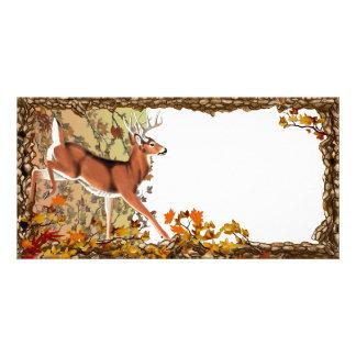 Fall Fleeing Buck 1 Photo Card