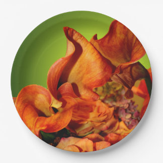 Fall Floral Autumn Rustic Wedding Arrangement Paper Plate