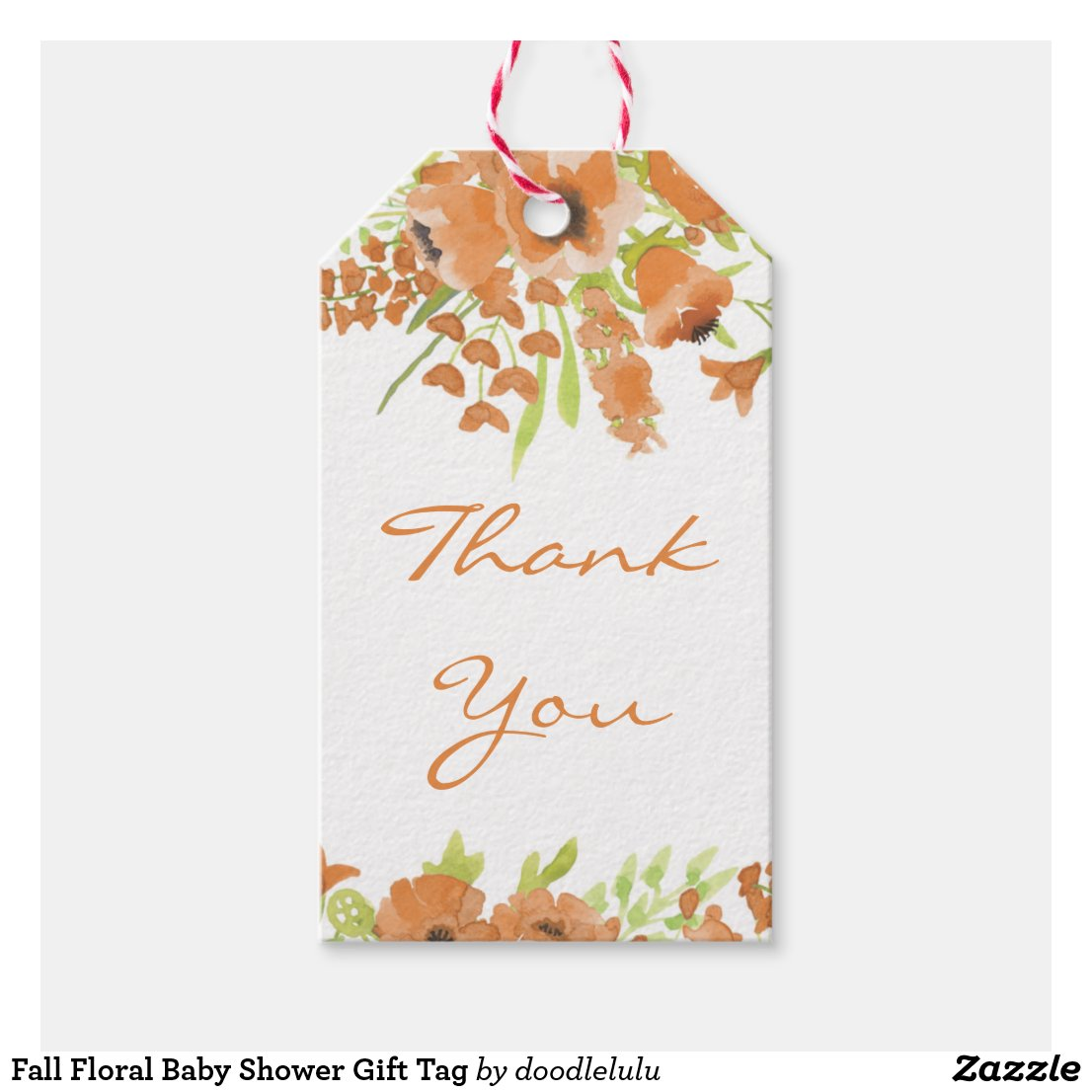 Fall Floral Baby Shower Gift Tag