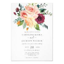 Fall Floral Bouquet Autumn Wedding Invitation
