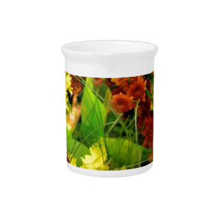 Fall Floral Bouquets Beverage Pitcher