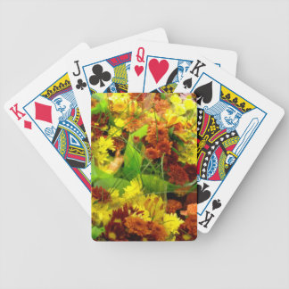 Fall Floral Bouquets Bicycle Playing Cards