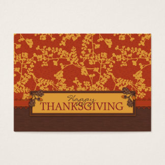Fall Floral Stems in Warm Autumn Color Business Card