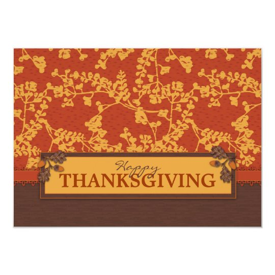 Fall Floral Stems in Warm Autumn Color Card