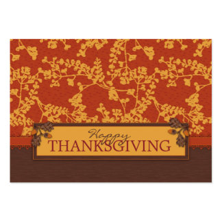 Fall Floral Stems in Warm Autumn Color Large Business Card
