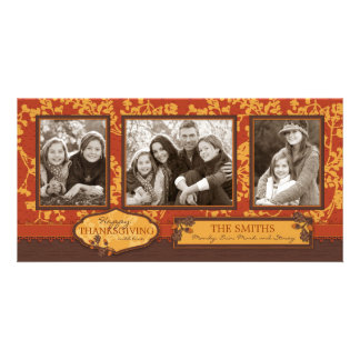 Fall Floral Stems in Warm Autumn Color Photo Card