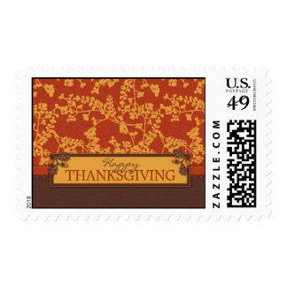 Fall Floral Stems in Warm Autumn Color Postage