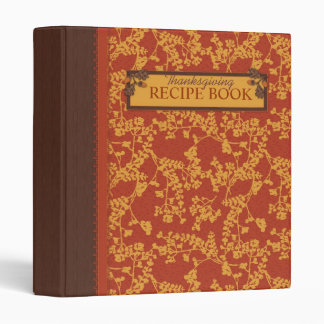 Fall Floral Stems in Warm in Autumn Colors 3 Ring Binders