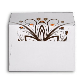 Fall floral wedding envelopes