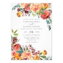 Fall Floral Wedding Invitation