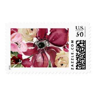 Fall Floral Wedding Stamp