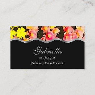 Fall Flower Business Cards