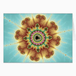 Fall Flower - Fractal Art Card