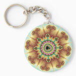 Fall Flower - Fractal Art Keychain