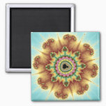 Fall Flower - Fractal Art Magnet