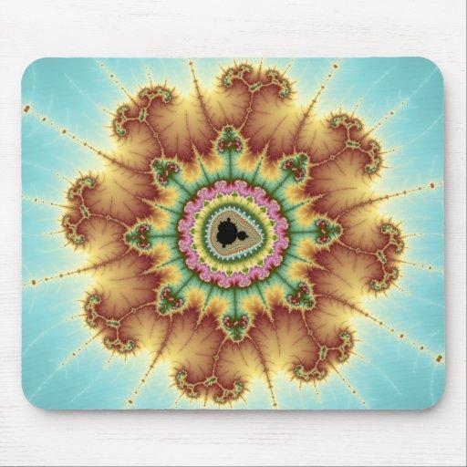 Fall Flower - Fractal Art Mouse Pad
