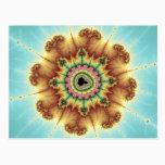 Fall Flower - Fractal Art Postcard