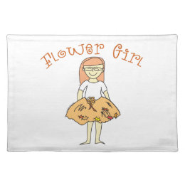 Fall Flower Girl Cloth Placemat