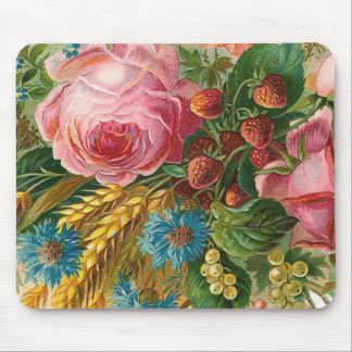 """Fall Flower Harvest"" Vintage Mouse Pad"