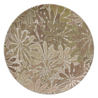 Fall Flowers - 1 of a set Plate