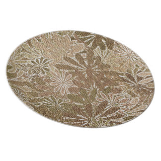 Fall Flowers - 4 of a set Plates