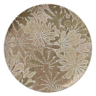 Fall Flowers - 5 of a set Dinner Plates