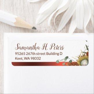 Fall Flowers Address Label Sheet
