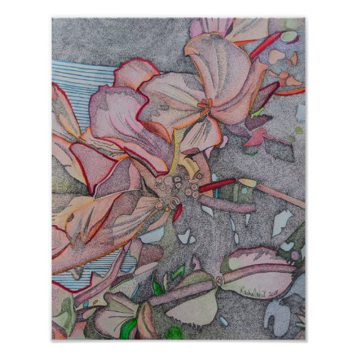 Fall flowers, Autumn flowers, Artwork, Fine art Poster