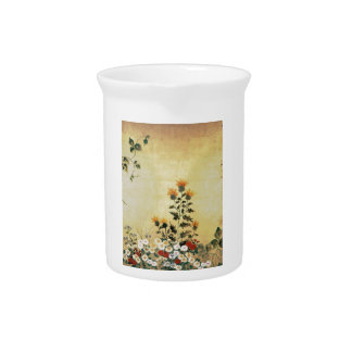 Fall Flowers Drink Pitcher