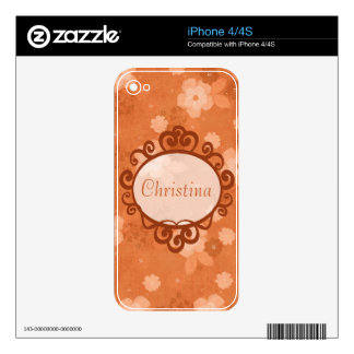 Fall Flowers IPhone Skin Decals For The iPhone 4