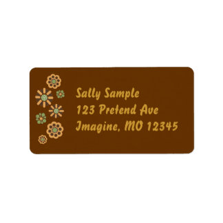 Fall Flowers Label