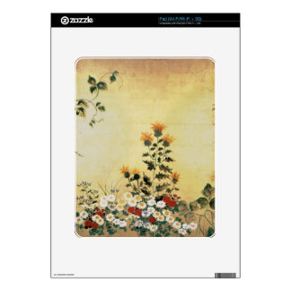 Fall Flowers Skin For iPad