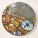 Fall Fly Fishing Rod Drink Coasters