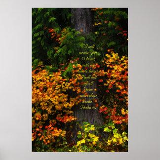 Fall Foliage 2 Print w/Scripture Verse