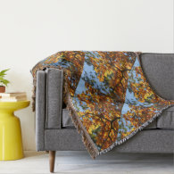 Fall Foliage Abstract Throw Blanket