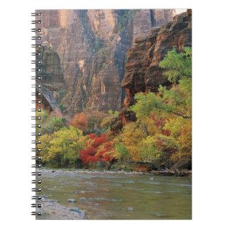 Fall foliage along Virgin River near gateway to Spiral Notebooks