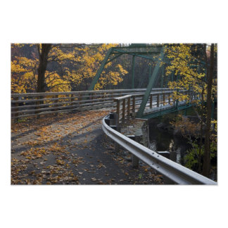 Fall foliage and a bridge over the Millers Poster